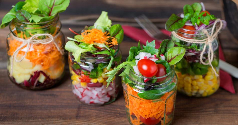 Salat im Glas - Shaking Salad - Trend Essen - Fasten & Dit